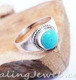 ring turkoois, sterling zilver, breed model