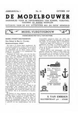 """NVM 95.37.010 Jaargang """"De Modelbouwer"""" Editie : 37.010 (PDF)"""