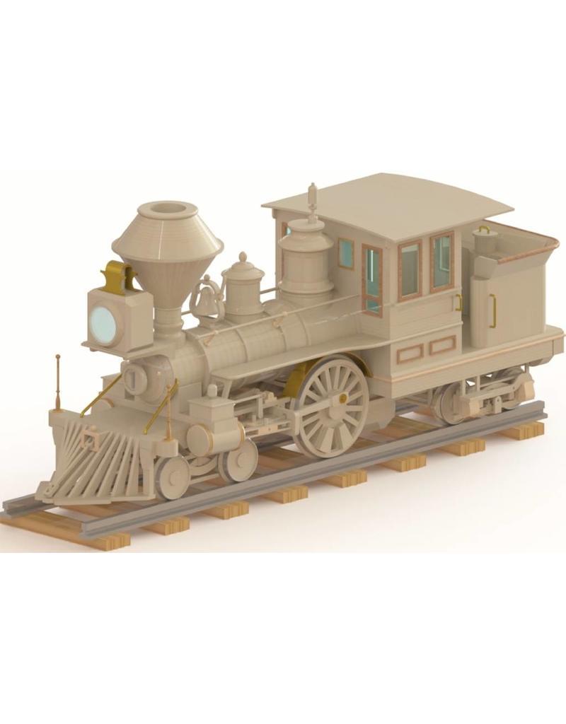 """NVM 20.00.064 CD Huntington, Amerikaanse 2-A-2 locomotief in hout voor 5""""spoor"""