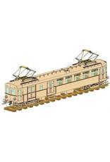 """NVM 20.03.015 CD - Electrische motorwagen NS BD9104 """"Blokkendoos"""" voor 5"""" spoor, uitgevoerd in hout"""