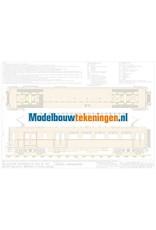 """NVM 20.03.015/A - Electrische motorwagen NS BD9104 """"Blokkendoos"""". Voor 5""""spoor, uitgevoerd in hout"""