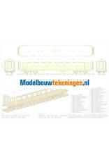 """NVM 20.05.036 NS rijtuig BE 8502 """"Mat 24"""" (Blokkendoos) voor spoor 1"""