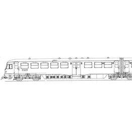 """NVM 29.04.071 NS DE 2-wagentrein type 1954, Serie 61 - 106 """"Blauwe Engel"""" voor Spoor 0"""