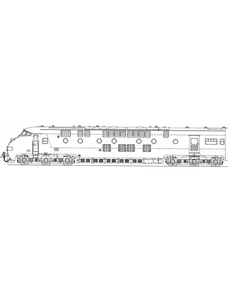 NVM 29.04.073 NS/SBB Diesel-electrisch TEE treinstel 1001 - 1-23, 501, 502 voor spoor 0