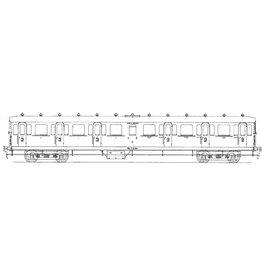 NVM 29.05.012 NS Coupérijtuig 3e klasse C6401 - 6485 voor spoor 0