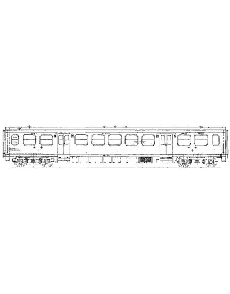 NVM 29.05.018 NS Doorgangsrijtuig 3e klasse C 6601 - 6714 voor spoor 0