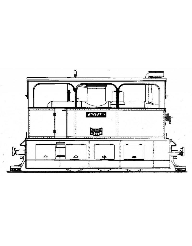 NVM 20.70.006 tramweglocomotief Stoomtram Mij. Breskens Maldeghem 12,13