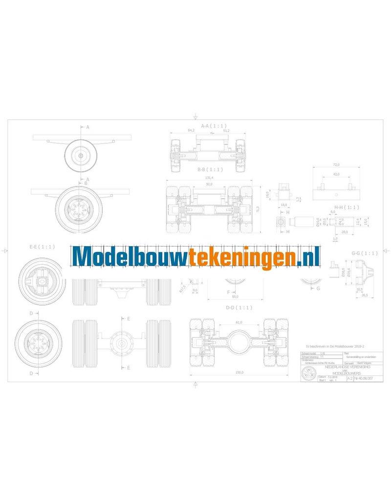 NVM 40.06.007 Achterassen voor lichte RC modellen