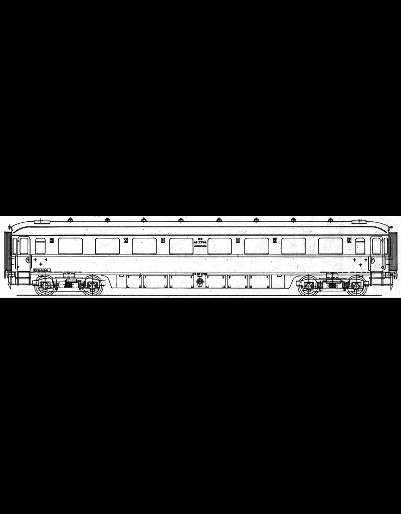 NVM 29.05.036 NS doorgangsrijtuig 1e en 2e klasse AB 7701 - 7720, na 1956 A 7701 ,- 7720 voor spoor 0