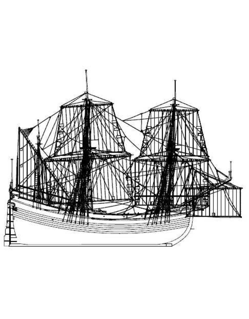 """NVM 10.00.033 Fluitschip, Noordvaarde """"Roode Leeuw"""" - (Witsen LX)"""