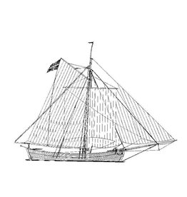 NVM 10.02.002 Deens koopvaardij-jacht (19e eeuw)