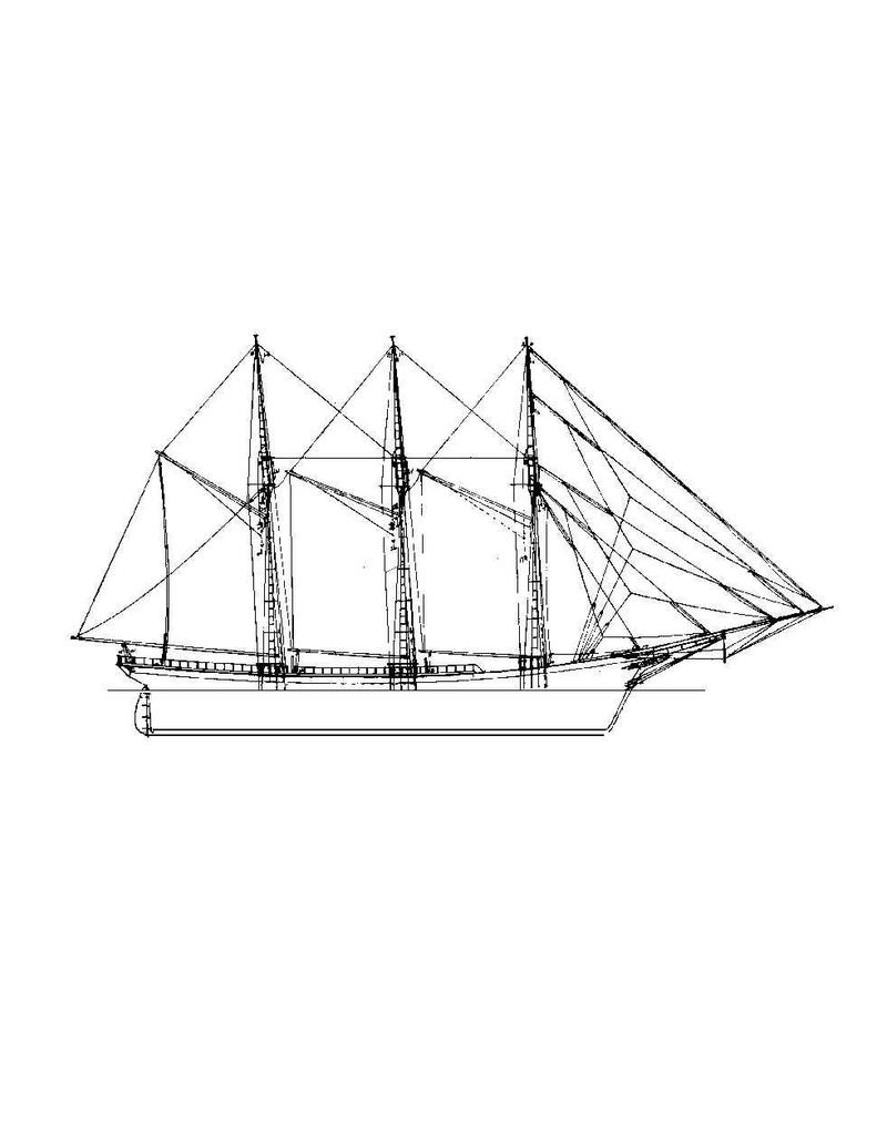 "NVM 10.02.009 Amerikaanse kustschoener ""Marion F. Spraque"" (1889)"