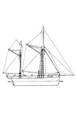 NVM 10.03.004 Engelse zeiltrawler (19e eeuw)
