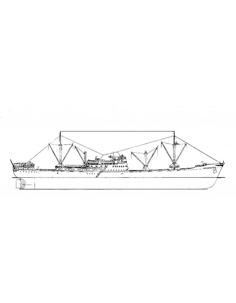 "NVM 10.10.010 vracht-passagierschip ms"" Willem van Oranje"" (1953) - Oranjelijn"