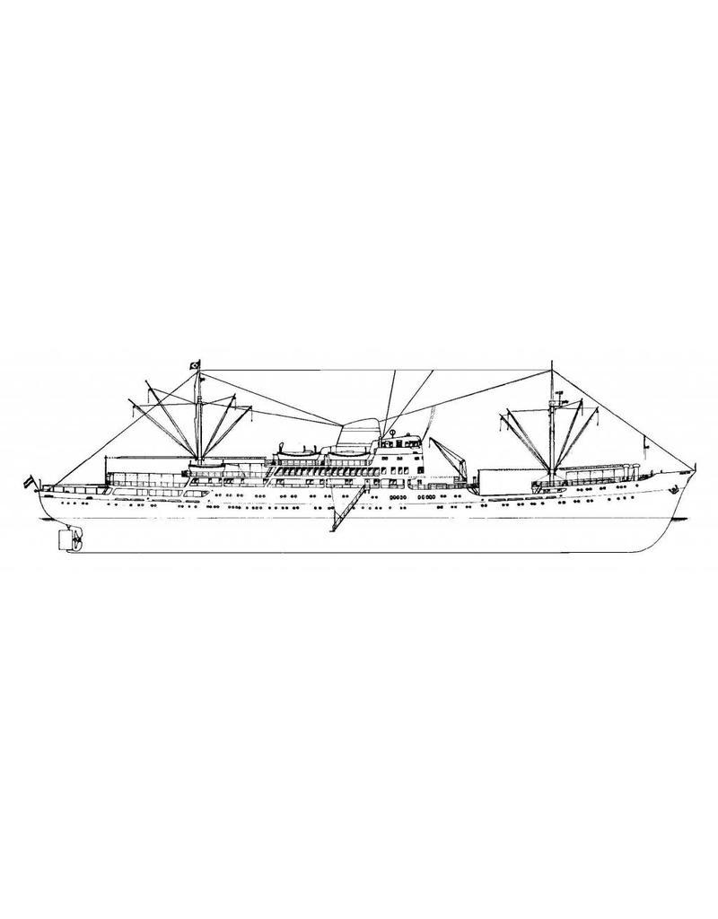 """NVM 10.10.011 pass.schip ms """"Oranje Nassau"""" en """"Prins der Nederlanden"""" (1957) - KNSM"""