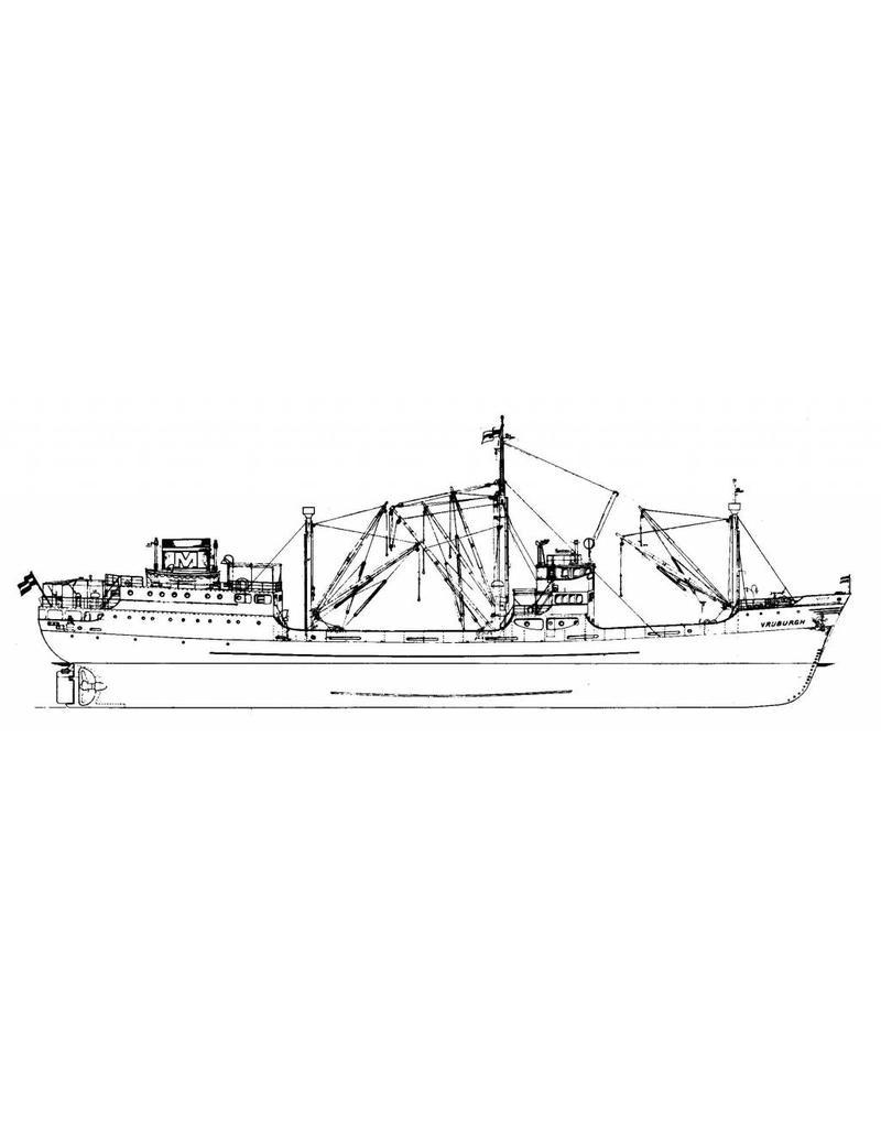 "NVM 10.10.032 vrachtschip ms ""Vrijburgh"" (1935) - Wm.H. MÌÎ_ller"