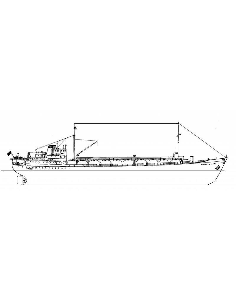 "NVM 10.10.039 gastanker ms ""Marian P. Billups"" (1956) - Tropical Gas Co."