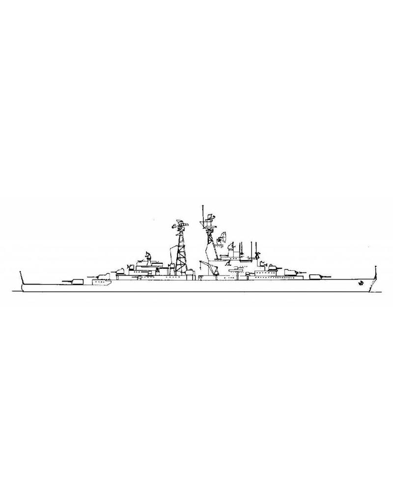 """NVM 10.11.020 HrMs kruisers """"De Ruyter"""" C801, """"Zeven Provincien"""" C802 (1939/1953/54)"""