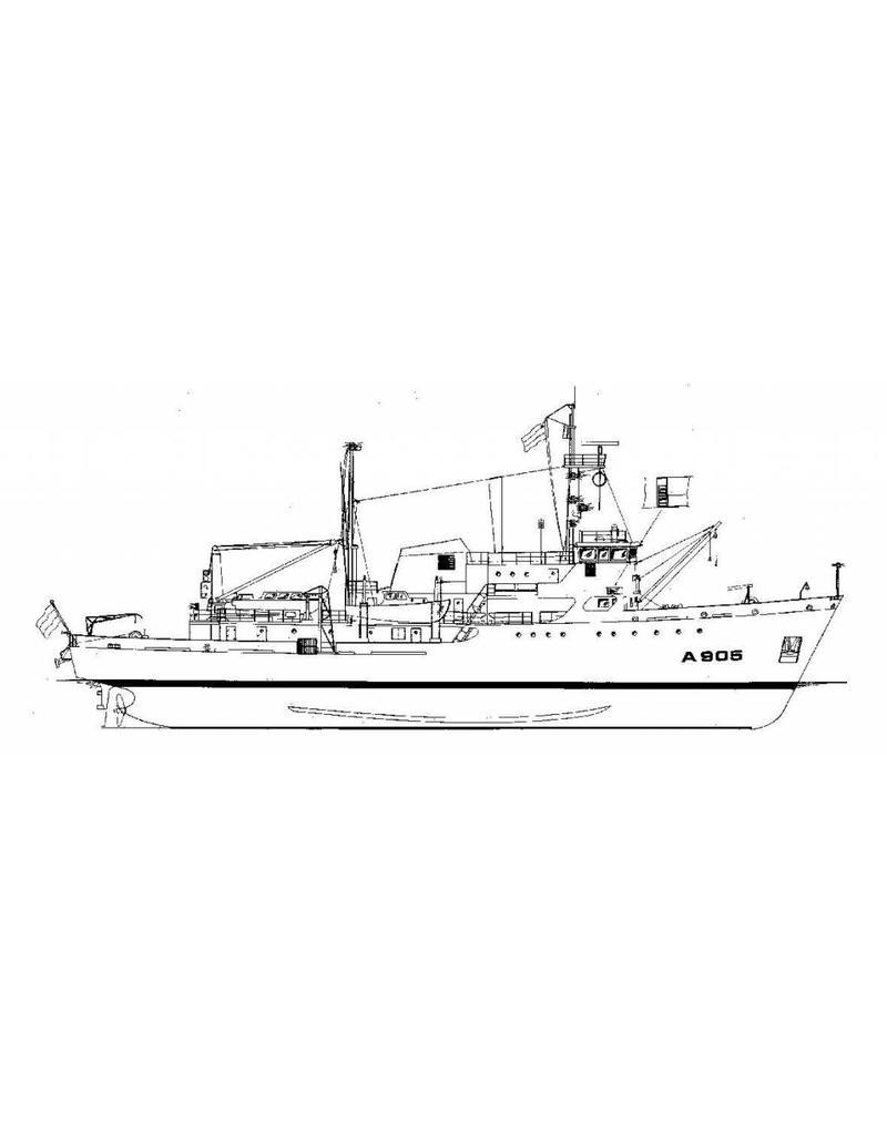 "NVM 10.11.036 HrMs opnemingsvaartuigen ""Buyskes"" A904, ""Blommendal"" A905 (1973)"