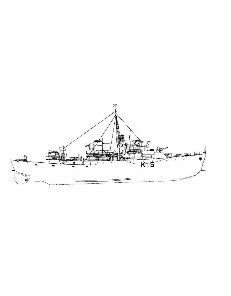 "NVM 10.11.063 Korvet HMCS ""Atholl"", K15, (modified Flower Class)"