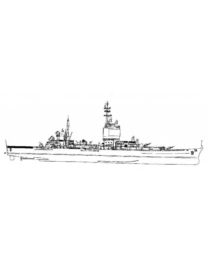 """NVM 10.11.098 Geleidewapenkruiser USS """"Long Beach"""" CGN-9 (1961)"""