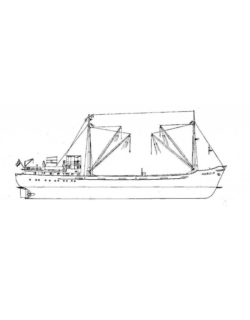 """NVM 10.12.005/A kustvaarder ms """"Megrez-N"""" (1952) - van Nievelt Goudriaan"""