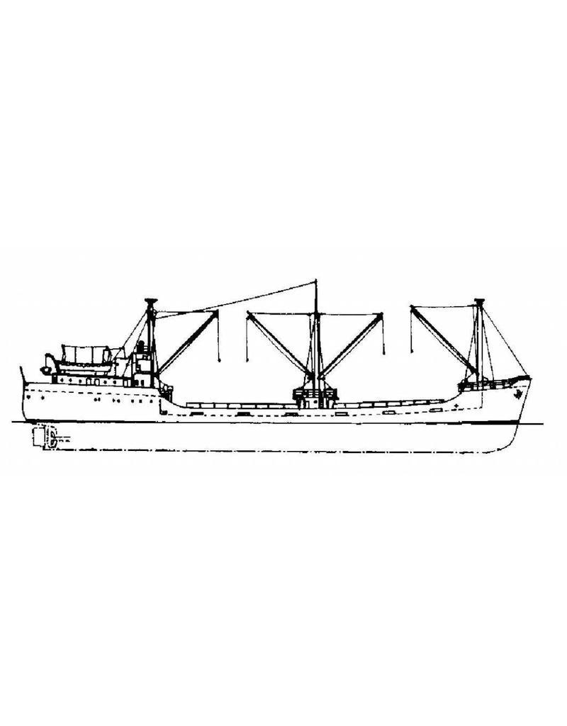 "NVM 10.12.019 kustvaarder ms ""Kirtondyke"" (1957) - Klondyke Shipping Co."
