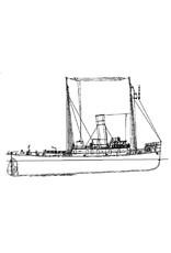 """NVM 10.14.023 zeesleper ss """" Witte Zee"""" (1914) - L. Smit & Co"""