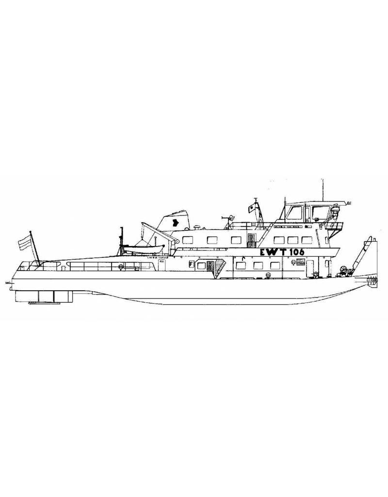 NVM 10.14.027/A duwboot EWT 106, Jacob C. van Neck - (1976) - Eur. Waterweg Transporten