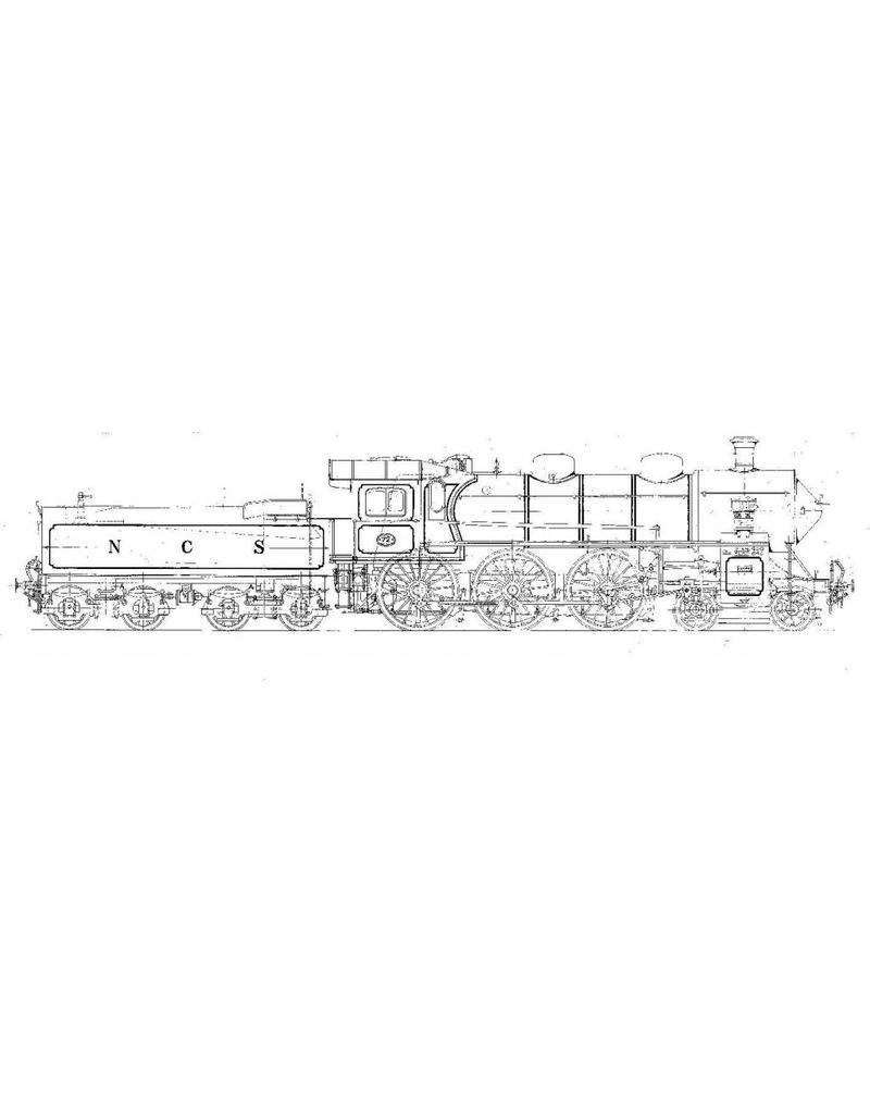 NVM 20.00.051 2-c 4-cilinder sneltreinlocomotief NS 3601-3604 voor spoor 0