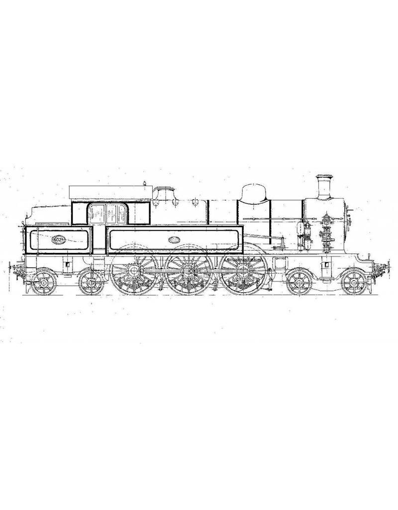 NVM 20.00.056 2-C-2 tenderlocomotief NS 6001-6026 voor spoor 0
