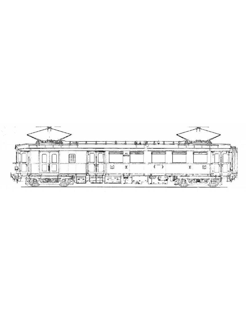 """NVM 20.03.008 hoofdlijnmateriaal (1924) - (""""Blokkendoos"""", """"Stofzuiger"""") voor spoor 0 en H0"""