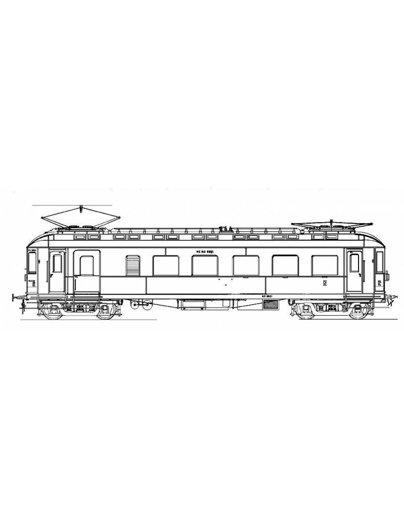 NVM 20.03.010 materieel ZHESM mBD 9951-9953 en tussenwagens D 8501-8502 voor spoor 0