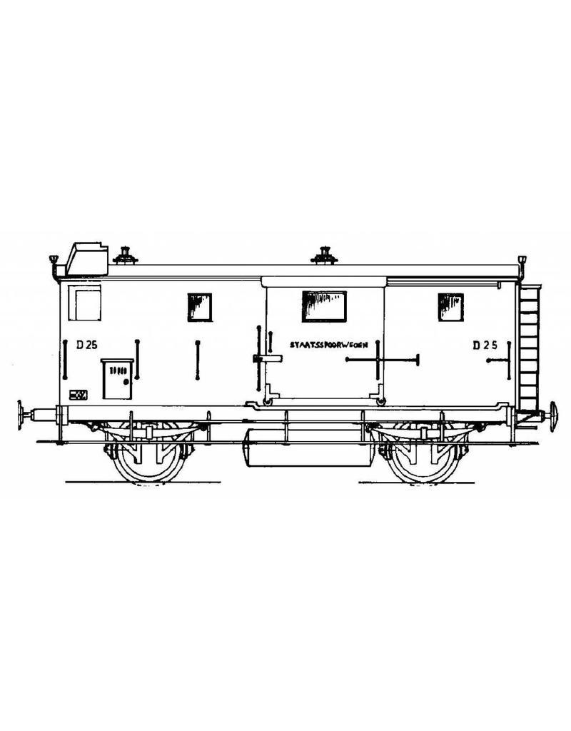 NVM 20.05.011 bagagewagen D 25-42, 44 en 45 - Staatsspoor voor spoor 0