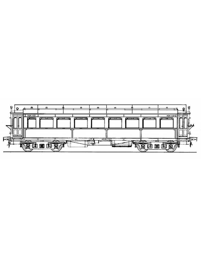 """NVM 20.05.014 doorgangsrijtuig HSM serie 1100 - (""""Groene Zandvoorter"""") voor spoor 0 en spoor I"""