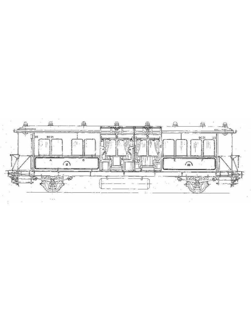 NVM 20.05.029 lokaalrijtuig 2e en 3e klasse Serie BC 1001-1010 (SS 21-30) voor spoor 0