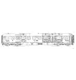 NVM 20.05.033 Doorgangsrijtuig 1e, 2e en 3e klasse voor internationaal verkeer, Serie 7300 voor spoor 0