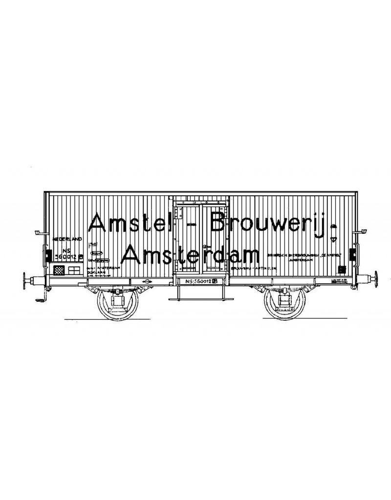 NVM 20.06.004 16 tons bierwagen NS 560012 - Amstel Brouwerij voor spoor I