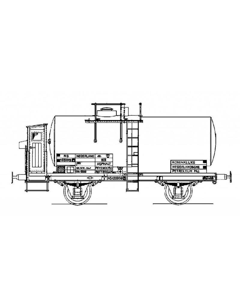 NVM 20.06.007 15 tons ketelwagen NS 155209 voor spoor I