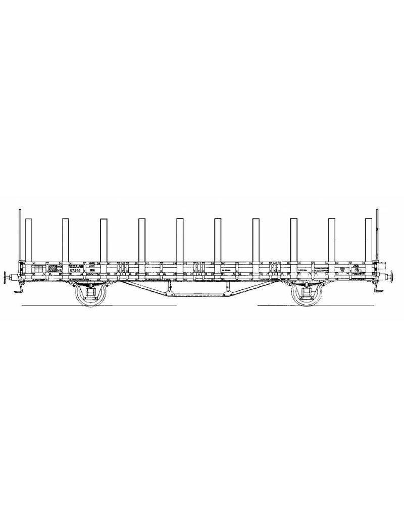 NVM 20.06.009 17,5 tons rongenwagen NS lwgk 87592 voor spoor I