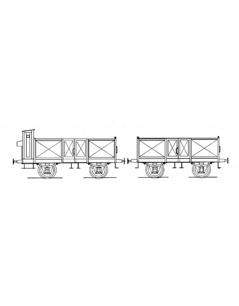 NVM 20.06.019 15 tons open kolenwagen van de Staatsspoorwegen voor spoor 0