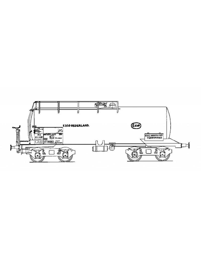 """NVM 20.06.026 ketelwagen NS 511 44p """"Esso"""" voor spoor 0"""