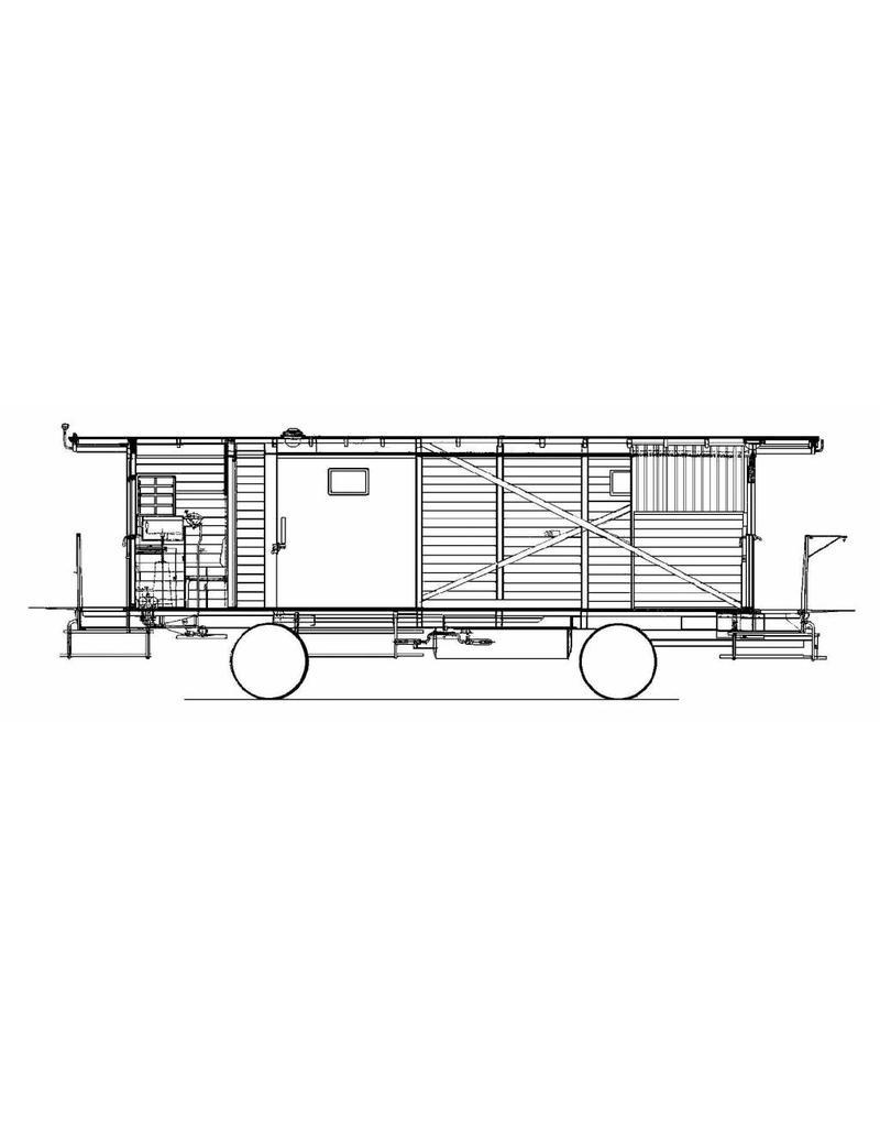 NVM 20.06.048 NS bagagewagen lokaalspoorwegen 14,15,16,18,19,20,26,27(Dl 111-116, 119 en 120)