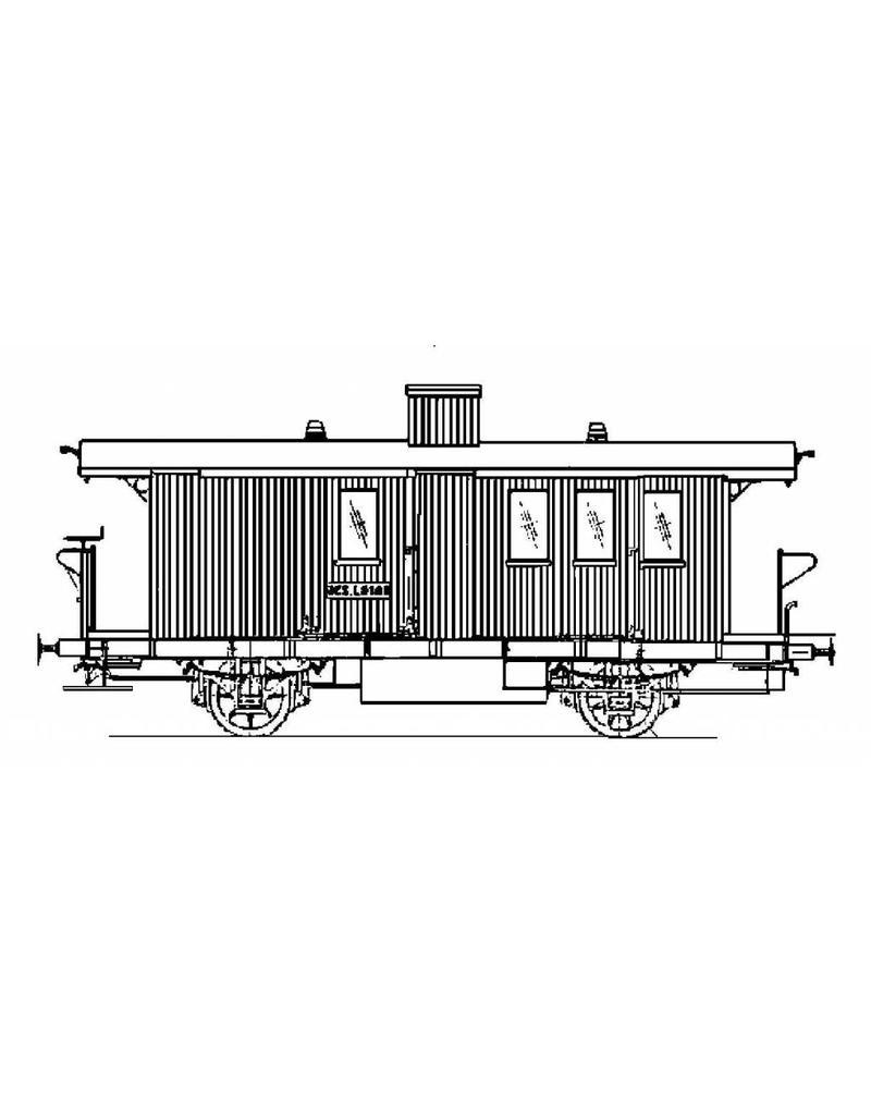 NVM 20.06.053 bagagewagen met postafdeling NCS LD 101-103 voor spoor 0