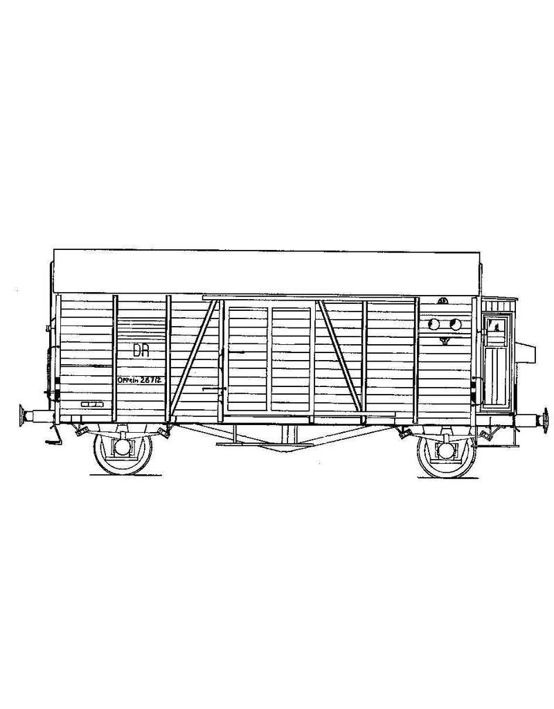 NVM 20.06.057 goederenwagen Deutsche Reichsbahn Ghhs voor spoor 0