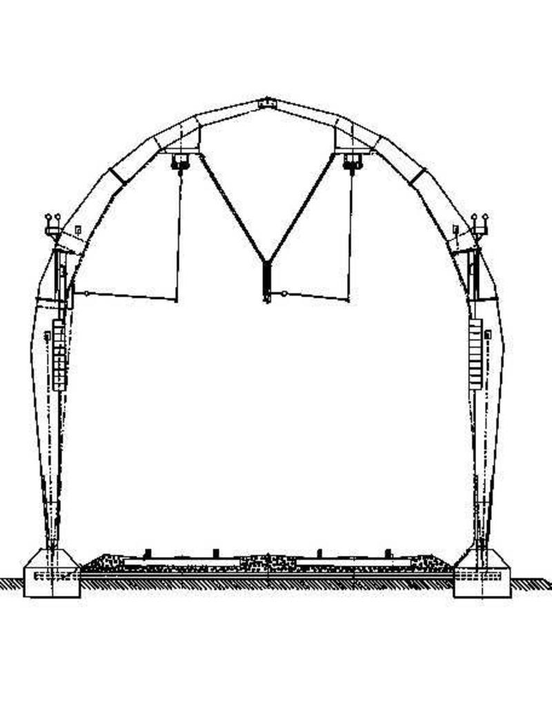 NVM 20.07.010 bovenleidingportaal van beton (Gooilijn) voor spoor 0