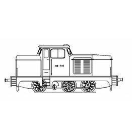 NVM 20.12.001 industrie-rangeerlocomotief; freelance model voor spoor H0