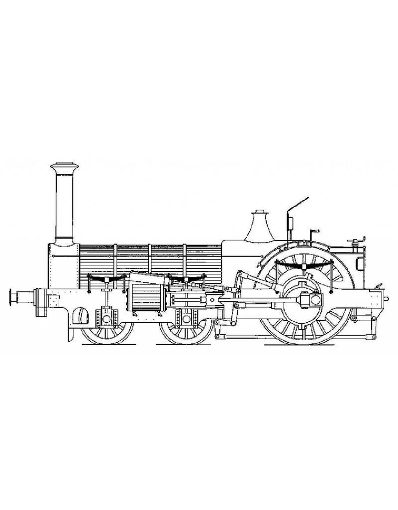 """NVM 20.20.005 Crampton locomotief; voor 5""""-spoor (127 mm)"""