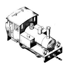 NVM 20.20.007 0-B-0 2 cilinder gasgestookte locomotief voor spoor 1