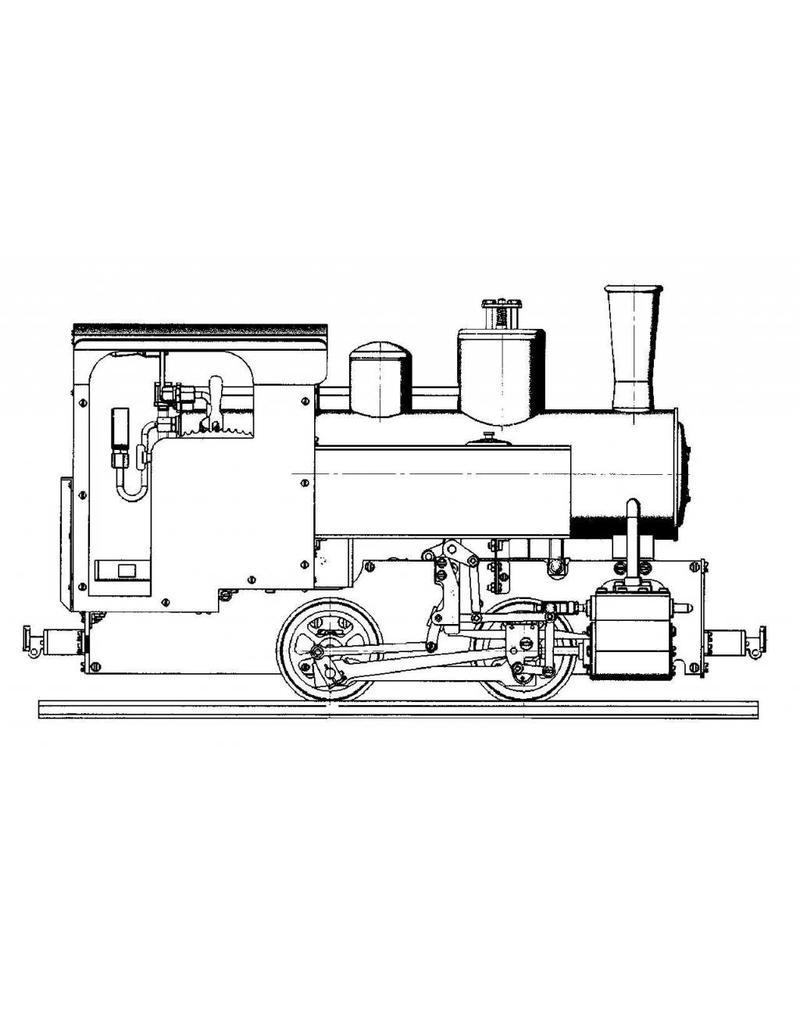 NVM 20.20.013/A Decauville 0-2-0T locomotief voor spoor 1